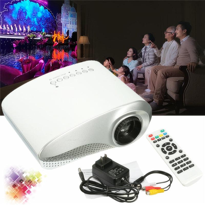 Portable 3D Full HD 1080P Mini Projector LED Multimedia Home Cinema Theater Support USB VGA TV AV  for Movies