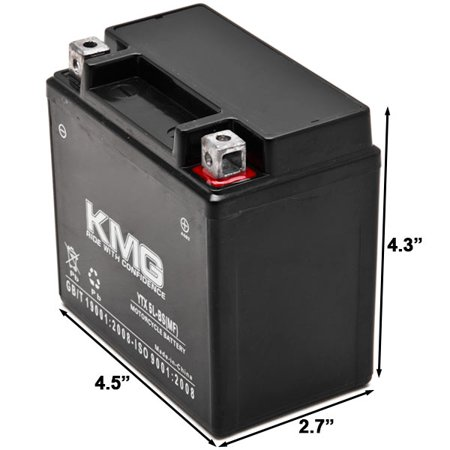 KTM 450 450SMR 2009-2012 YTX5L-BS Sealed Maintenace Free Battery High Performance 12V SMF OEM Replacement Maintenance Free Powersport Motorcycle ATV Scooter Snowmobile KMG - image 1 de 3