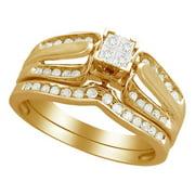 Forever Bride 10k Yg Fb 1/3 Cttw Quad Bridal Set