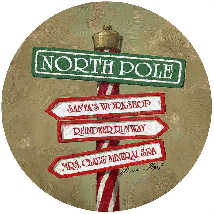 """Andrea's Silicone - 6"""" Non-Slip Jar Opener - North Pole Sign"""