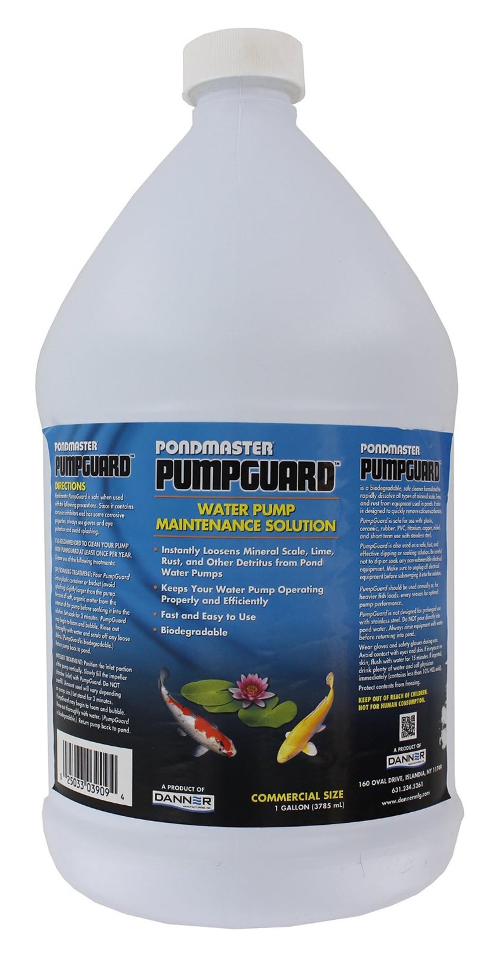 Pondmaster PumpGuard 03909 Garden Pond Water Pump Maintenance Solution | 128 oz. by
