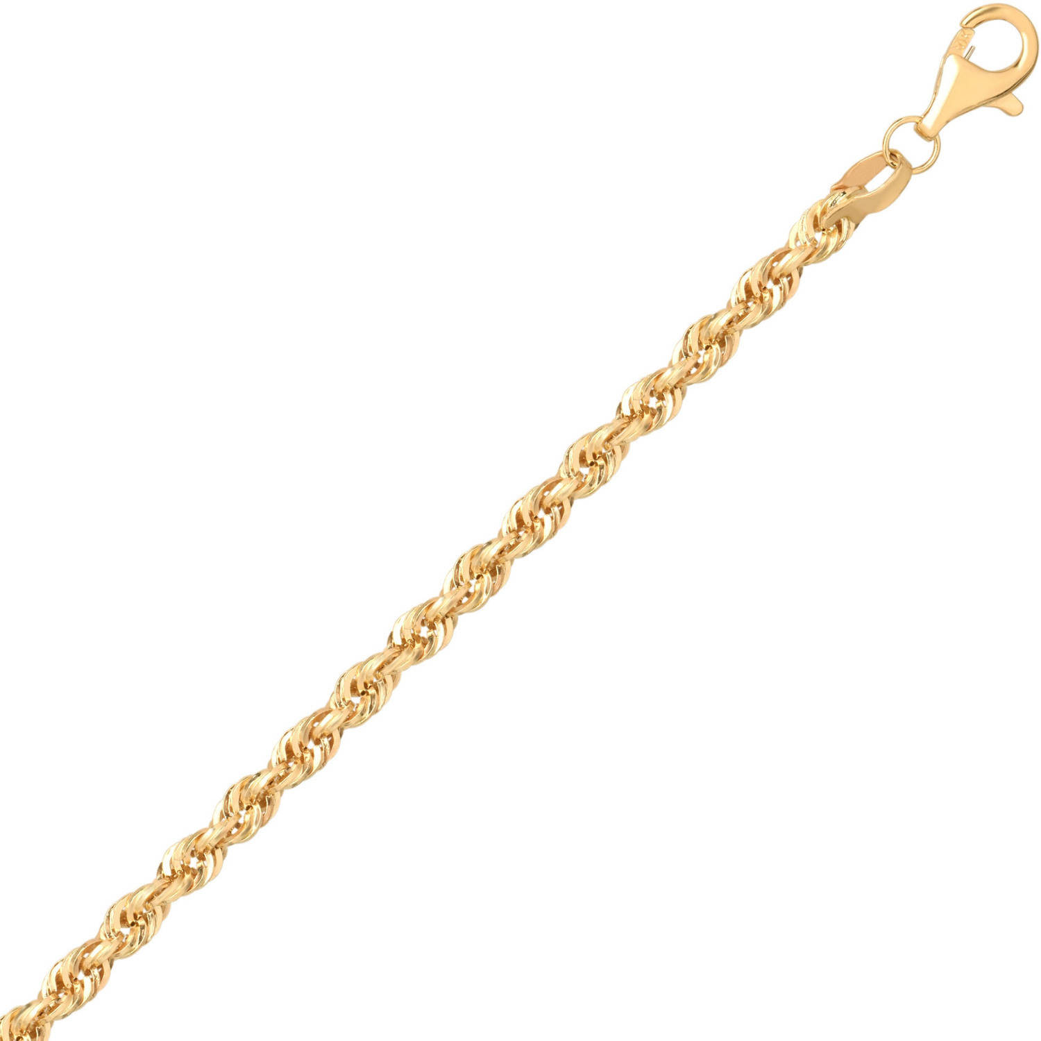Simply Gold Women's 10KT Yellow Gold 2.9MM Rope Chain, 24