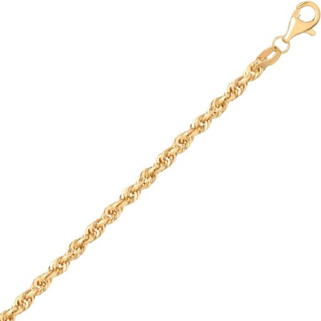 Simply Gold Womens 10Kt Yellow Gold 2 9Mm Rope Chain  24