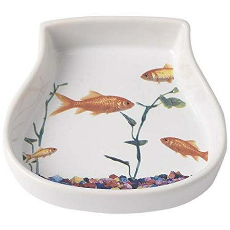 Feeding Saucer - Stoneware Bowl, Small Food Saucer Bowl Serving Feeding Dog Pet Water Bowl