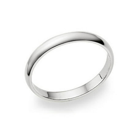 3MM Sterling Silver High Polish Plain Dome Tarnish Resistant Comfort Fit Wedding Band Ring Sz 7