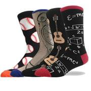 Fun Dress Socks for Men Women Funny Crazy Novelty Colorful Festival Dress Crew Socks