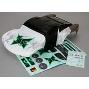 ECX 230007 Body, Black/Green: 1/10 2wd Torment