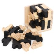 54 PCs Tetris Cube Brain Teaser Magic Wooden Intelligence Game 3D Wood Puzzle Puzzle Game for Kids Gift