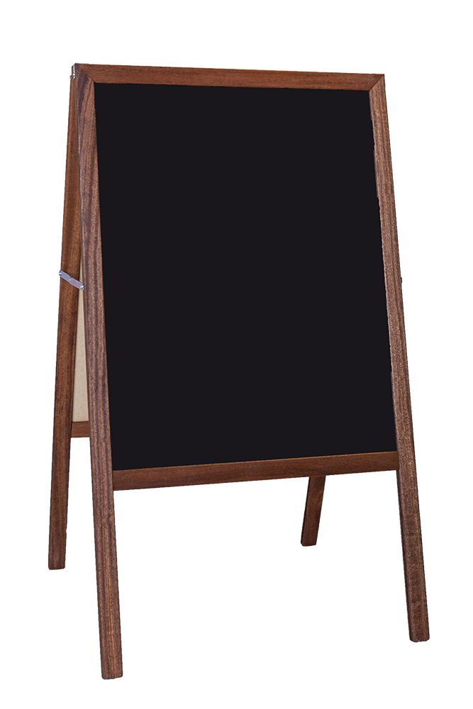 "42"" X 24"" Stained Marquee Easel White Dry Erase   Black Chalkboard by Flipside Products"
