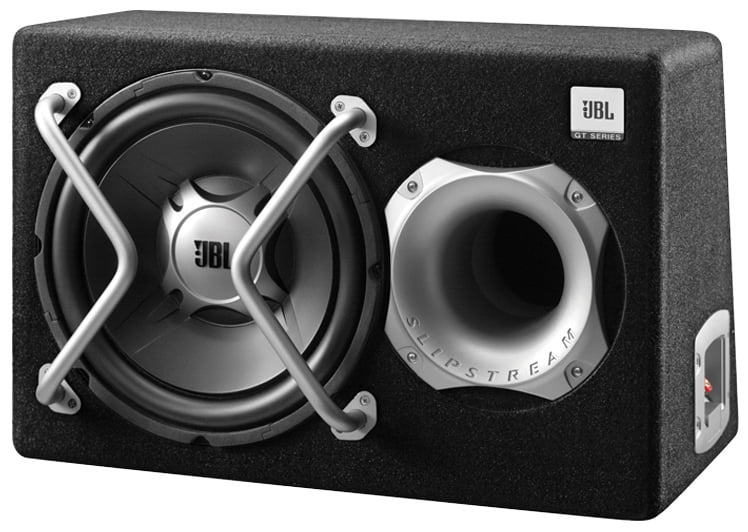 black 300mm JBL GT-BassPro12 12-Inch Car Audio Powered Subwoofer System