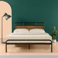 Zinus Santa Fe Wood and Metal 12 Inch Platform Bed, Multiple Sizes