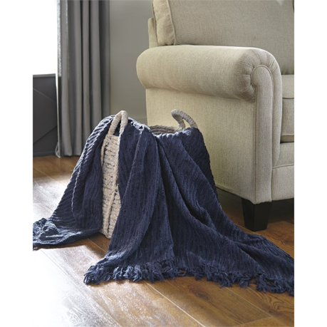 Ashley noland throw in navy set of 3 for Meuble ashley liquidation