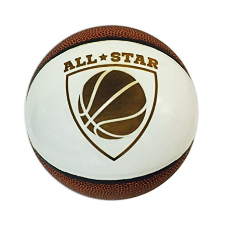 All Star 3D Laser Engraved Miniature Toy 5 inch Basketball (All Star Crest)