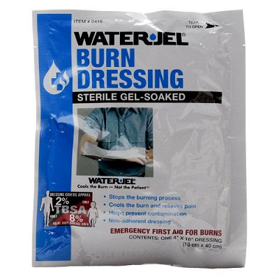"Sterile Gel-Soaked Burn Dressing Care for Burn Wounds, 4""x16"" 5 Packets By Water-Jel MS-46230"