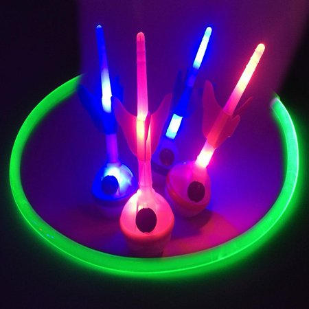 GlowCity LED Lawn Dart Game with Light Up Lawn Darts & Fiber Optic Ring Target](Light Up Ring)