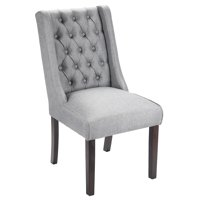 Porthos Home Button Tufted Dining, Accent or Side Chair with Solid Rubberwood Legs for Dining Room or Living Room