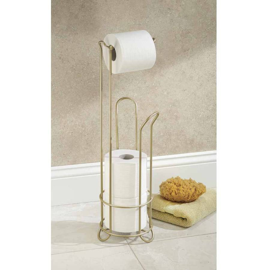 InterDesign Classico Roll Stand Plus, Pearl Gold