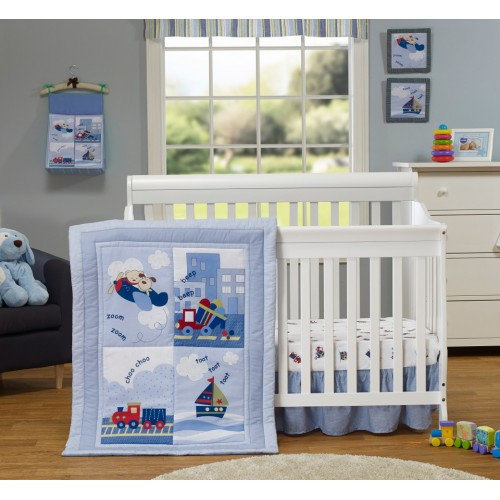 Baby Time International, Inc. 3 Piece Crib Bedding Set