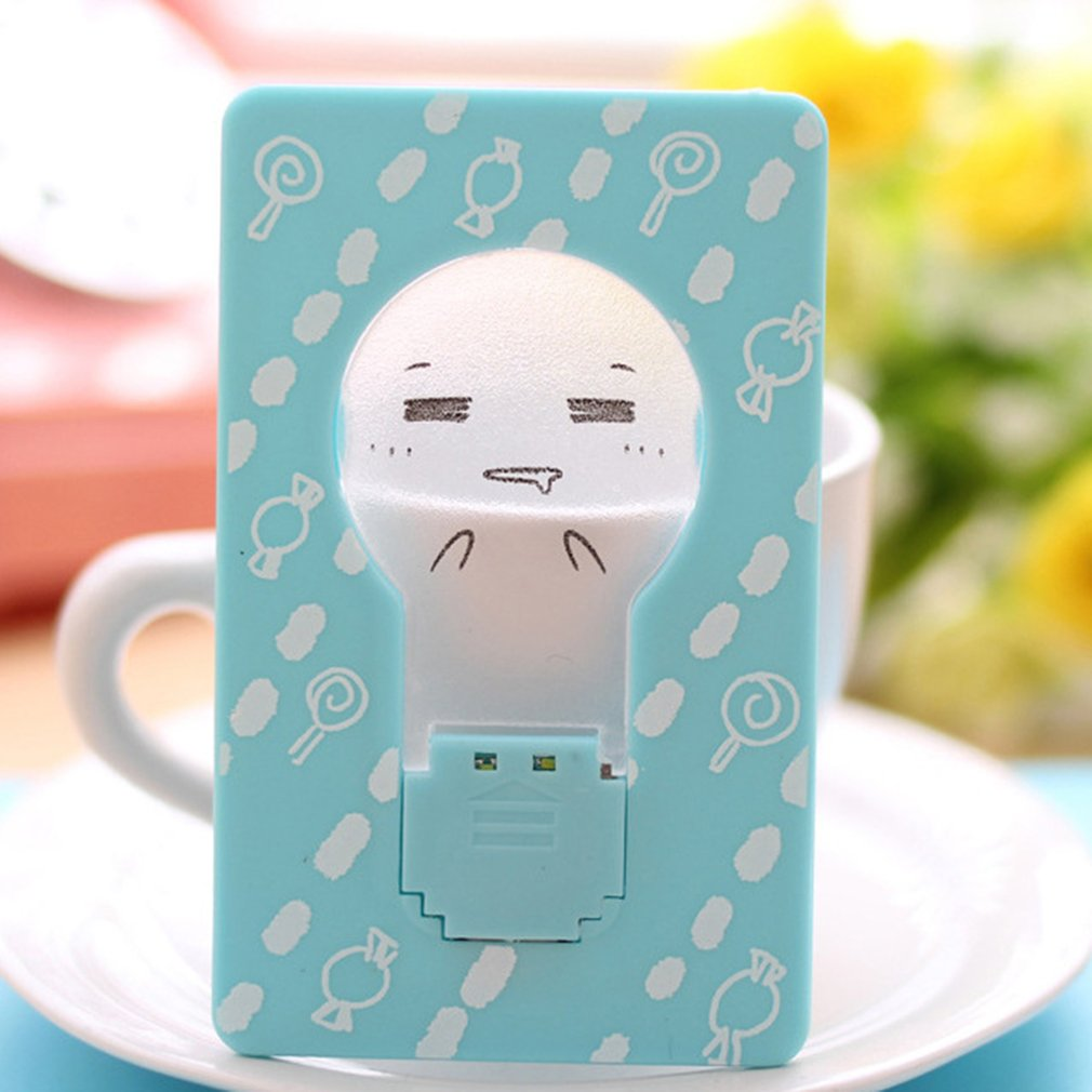 Battery Night Lamp Mood Light Creative Card Design Gentle Light For Emergency