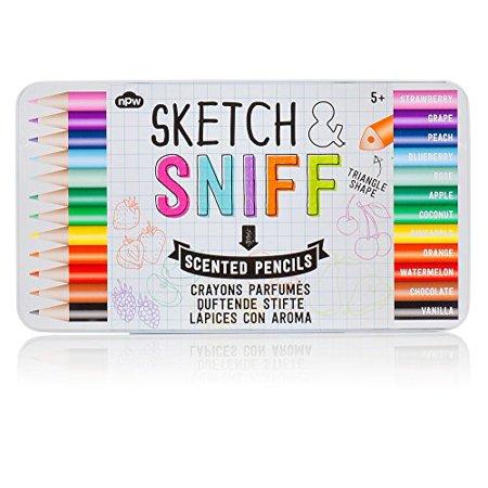 Sketch and Sniff Coloured Pencil Crayons](Crayon Pencil)