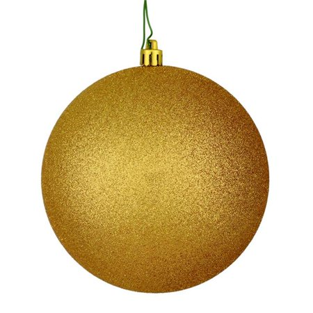 Vickerman N592533DG 10 in. Copper & Gold Glitter Ball Ornament with Drilled Cap - Pack of 8 - image 1 de 1