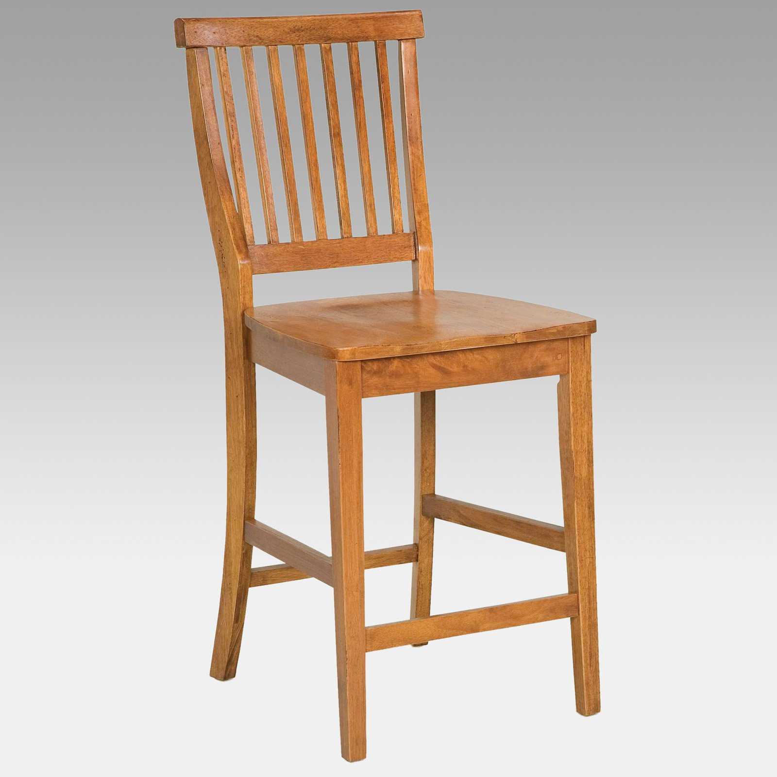 """Walmart Counter Stools: Home Styles Wood Counter Stool 24"""", Cottage Oak"""