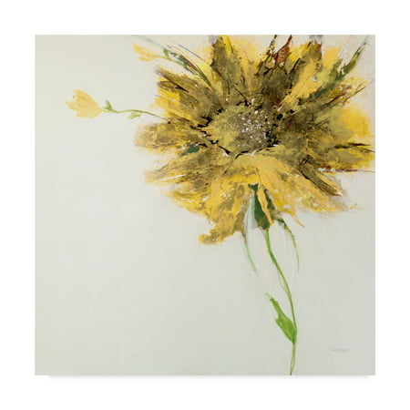Trademark Fine Art 'Yellow Daisy on White' Canvas Art by Jan Griggs - Yellow Daisies