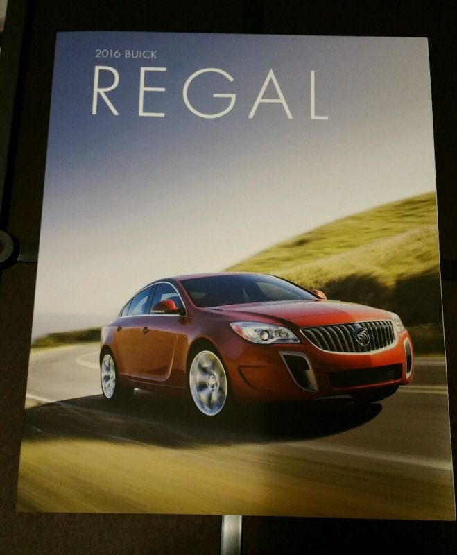 99 Buick Regal Gs: 2016 Buick Regal GS 38-page Original Sales Brochure NEW
