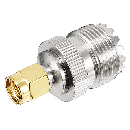 Silver/Gold Tone SMA Male to SL16 Female Jack RF Coaxial Adapter Connector](Female To Male Transformation)