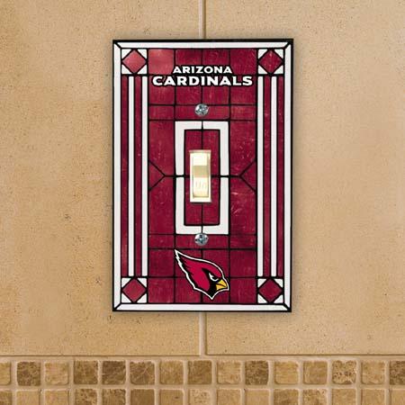Arizona Cardinals Art Glass Lightswitch Cover