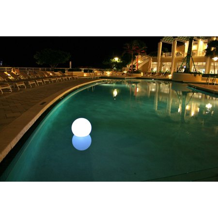 Chilllite color changing floating bubble pool light for Pool light show walmart