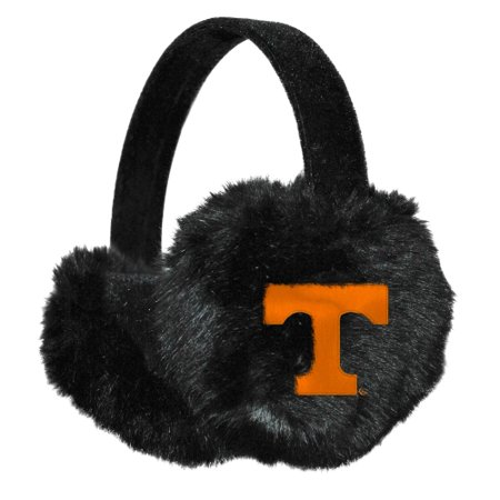 Tennessee Volunteers Black Leather (Tennessee Volunteers G-III 4Her by Carl Banks Women's Faux Fur Ear Muffs - Black - No Size)