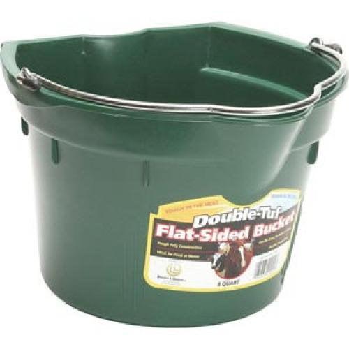 TekSupply 107868 Double-Tuf Flat-Sided Bucket - 8 Quart
