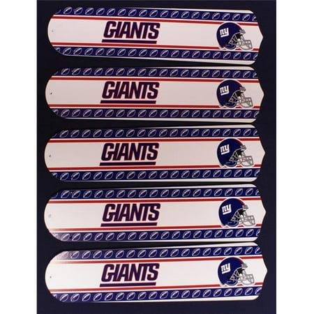 Ceiling Fan Designers 52SET-NFL-NYG NFL York Giants Football 52 In. Ceiling Fan Blades