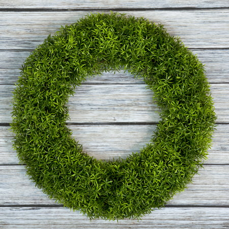 Boxwood Wreath, Artificial Wreath for the Front Door by Pure Garden, Home Decor, UV Resistant 20 Inches