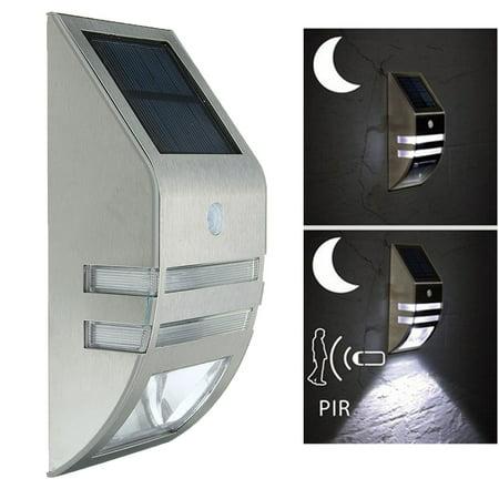 1pcs Outdoor Wall Mount Solar Ed Lights 2 Led Pir Motion Sensor Landscape Lighting Lamp Garden Security