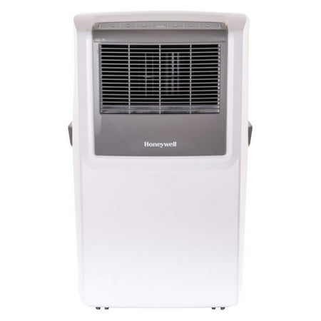 Honeywell Window Fan - Honeywell MP10CESWW 10,000 BTU 115V Portable Air Conditioner up to 300 sq. ft. with Front Grille and Remote Control, White/Grey