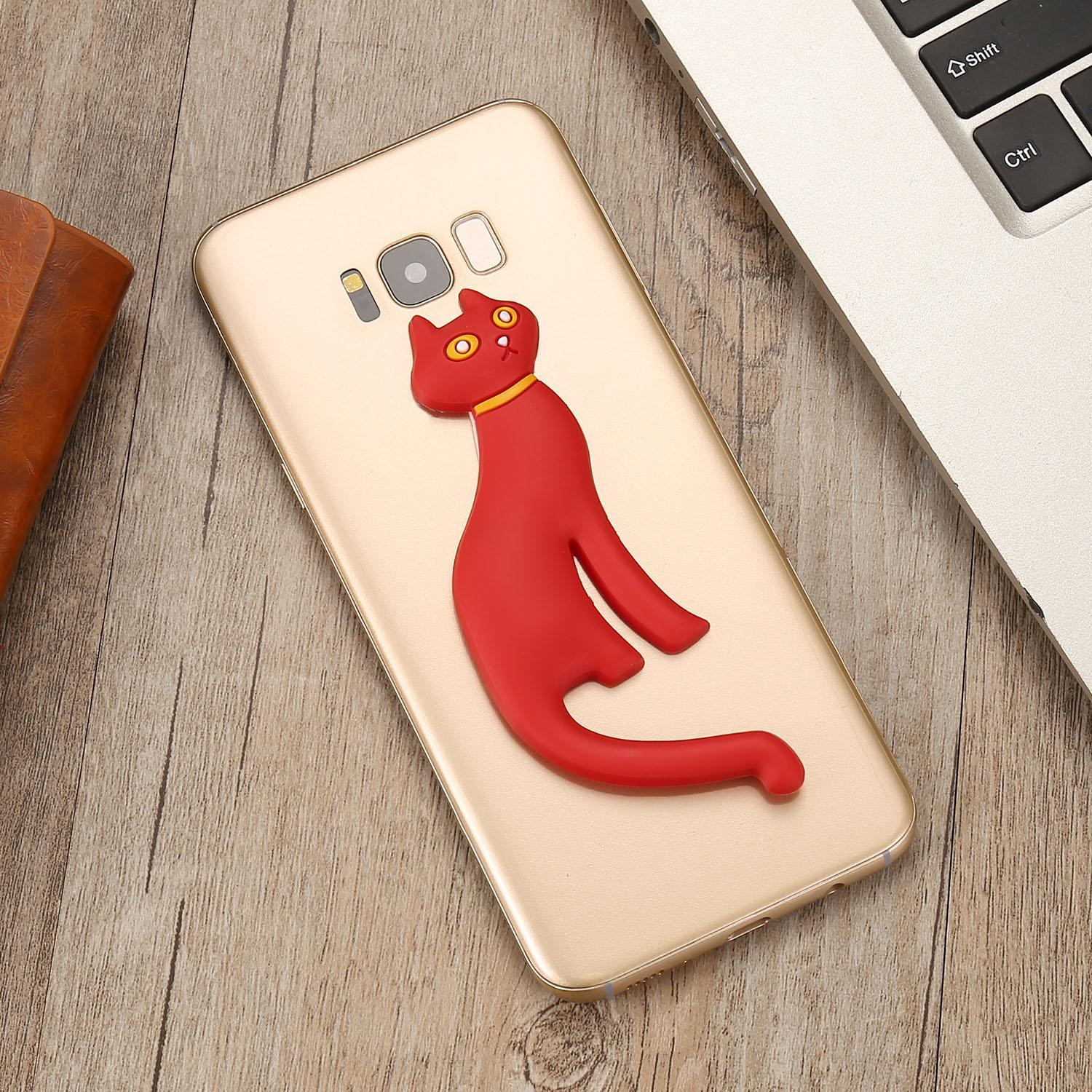 Cute Cat Silicone Phone Stand Mount Holder Stent Caroj - image 4 of 5
