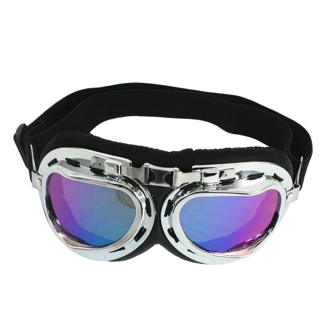 Ladies Man Metal Frame Silver Tone Rim Adjustable Strap Ski Goggles by