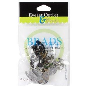 Eyelet Outlet Shape Brads 12//Pkg Building Blocks 879693005629