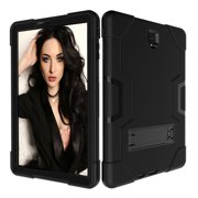 GoldCherry Galaxy Tab S4 10.5 T830 Case Heavy Duty Rugged Hybrid Armor with Build in Kickstand for Samsung Galaxy Tab S4 10.5 inch SM-T830/T835/T837(Black)