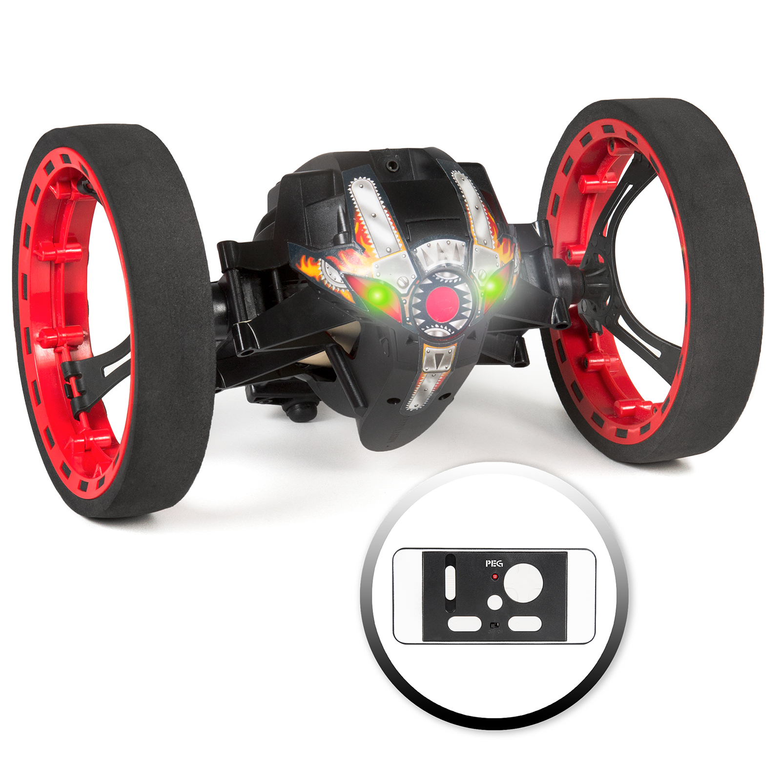 Best Choice Products 2.4GHz Wireless Remote Control Jumping Smart Bounce RC Stunt Car 360 Degrees, USB Charger