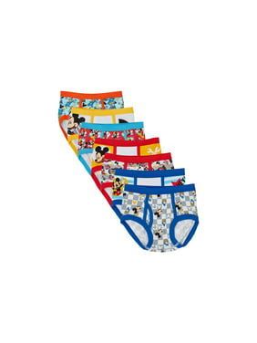 Mickey Mouse Toddler Boys Brief Underwear, 7-Pack