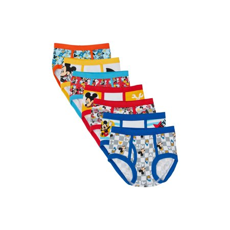 Cotton Lycra Boy Brief - Mickey Mouse Brief Underwear, 7-Pack (Toddler Boys)