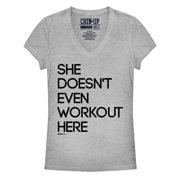 Mean Girls Juniors' Workout Here V-Neck T-Shirt