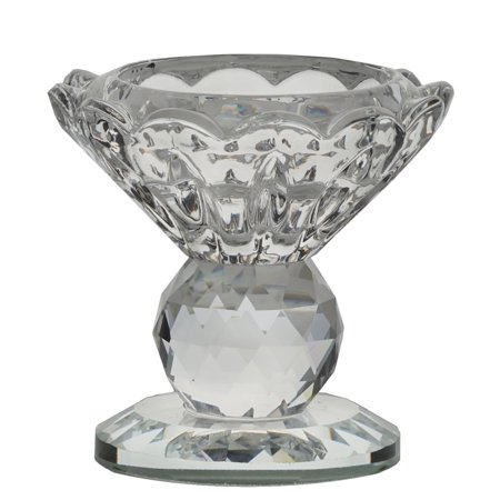 "BalsaCircle Clear 2.5"" tall Glass Crystal Candle Holder Candlestick - Home Party Wedding Decorations Gifts"