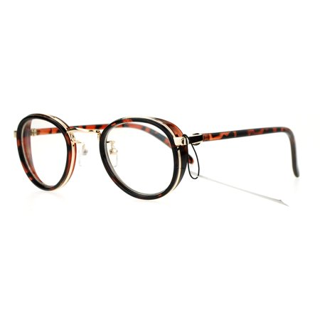 SA106 Victorian Vintage Round Clear Lens Eye Glasses Gold (Victorian Reading Glasses)
