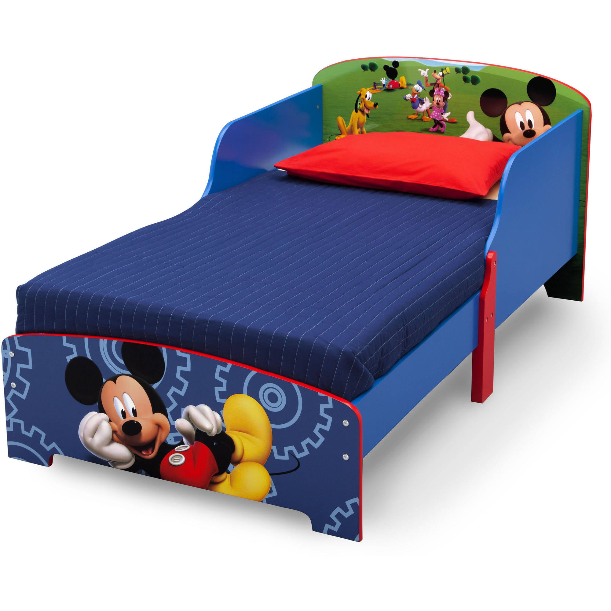 Disney Mickey Mouse Wood Toddler Bed By Delta Children   Walmart.com