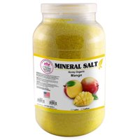 Mina Organic Mineral Salt, Mango (1 Gallon) -Relaxing Mineral Bath Salts for Sore Muscles, Professional Body Massage Supply