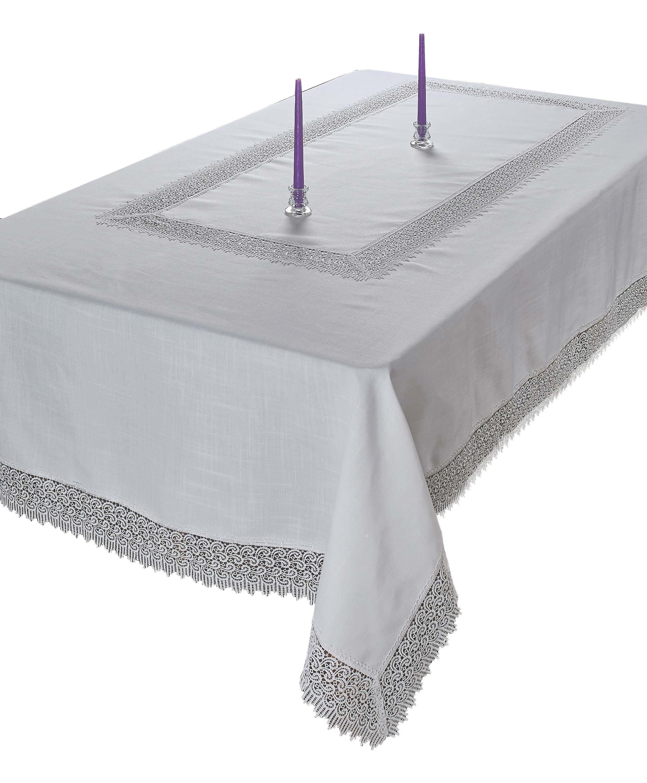 Violet Linen Treasure Lace Tablecloth by Violet Linen
